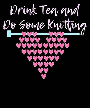 Drink Tea And Do Some KNitting 2 by Kaylin Watchorn
