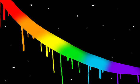 Drippy Space Rainbow by Abagail Wells