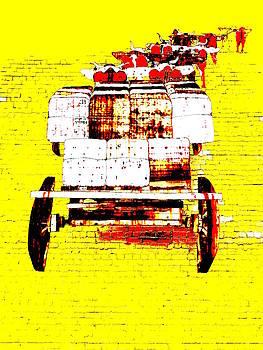 Driving the Bullock Team - Yellow by Lexa Harpell