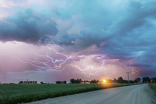 Driving The Dirt Roads Chasing Lightning by James BO Insogna