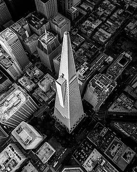 DRONE VIEW of TRANSAMERICA PYRAMID - SAN FRANCISCO by Daniel Hagerman