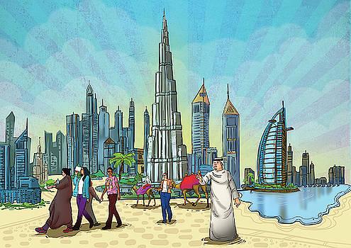 Dubai Illustration  by Arttantra