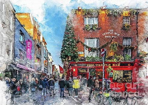 Dublin art watercolor by Justyna JBJart