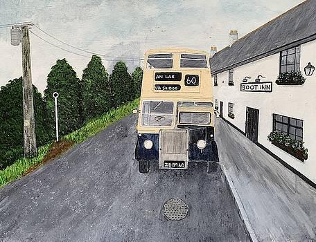 Dublin Bus Painting by Martin Dardis