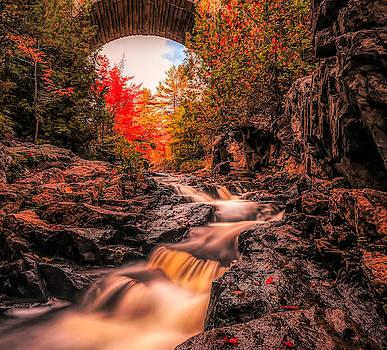 Duck Brook Waterfall Acadia by Dan Sproul