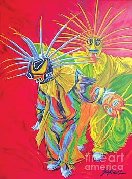 Dueto incandescente de vejigantes by Ivonne Galanes Svard