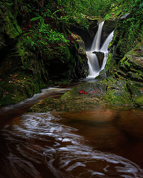 Duggers Creek Falls - Blue Ridge Parkway - North Carolina by Mike Koenig