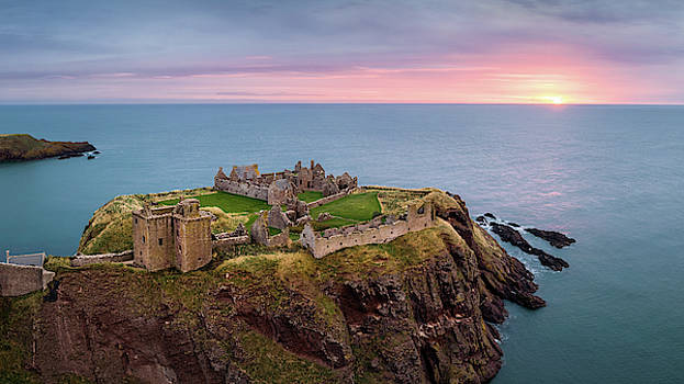 Dunnottar Sunrise by Dave Bowman