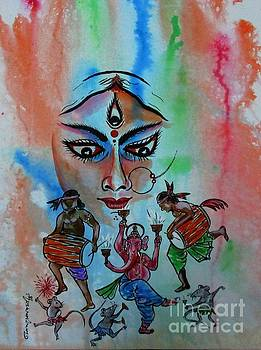 Ma Durga-3 by Tamal Sen Sharma