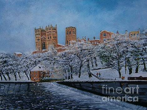 Durham Cathedral Snow  by Neal Crossan