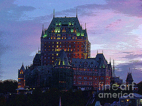 Dusk At The Chateau Frontenac In Quebec City by Al Bourassa