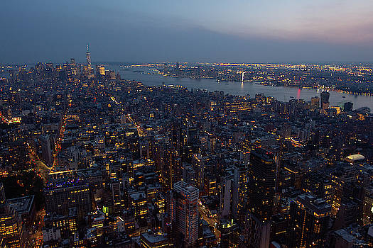 Dusk on New York City by Crystal Wightman