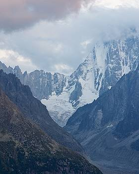 Dusk over Grand Jorasses and Mer De Glace by Stephen Taylor