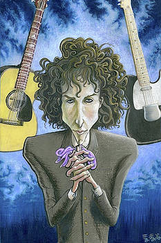 Dusky Resolution - Bob Dylan by Ebenlo - Painter Of Song