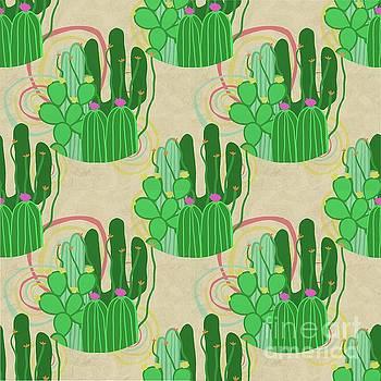 Dust Devil Desert Cactus Seamless by Priscilla Wolfe
