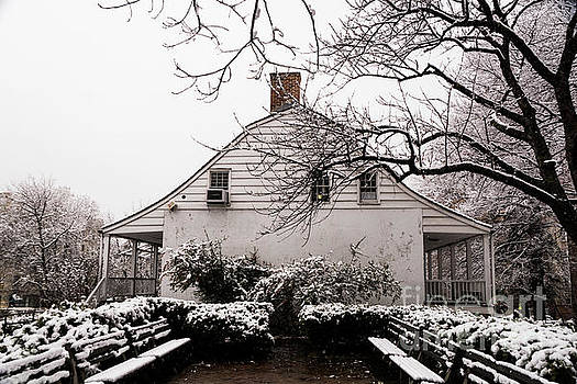 Dyckman Farmhouse in Winter by Cole Thompson