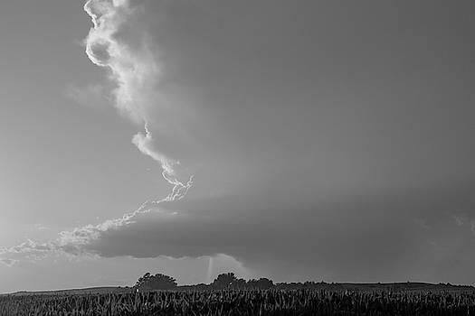 NebraskaSC - Dying Nebraska Thunderstorms at Sunset 042