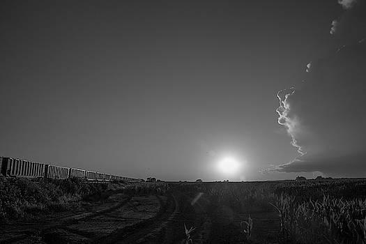 NebraskaSC - Dying Nebraska Thunderstorms at Sunset 044