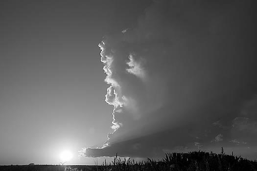 NebraskaSC - Dying Nebraska Thunderstorms at Sunset 060