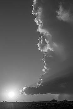 NebraskaSC - Dying Nebraska Thunderstorms at Sunset 064
