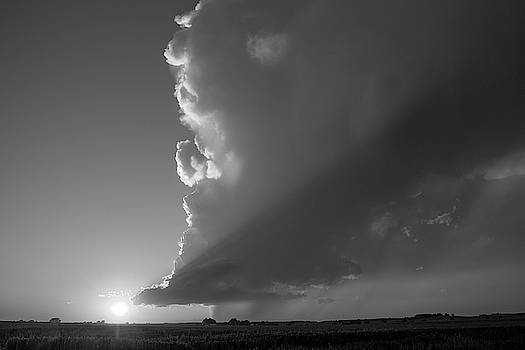 NebraskaSC - Dying Nebraska Thunderstorms at Sunset 071