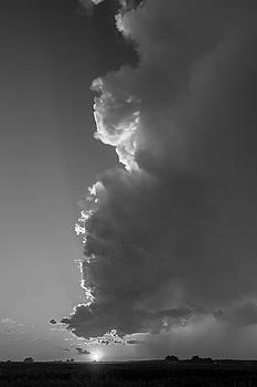 NebraskaSC - Dying Nebraska Thunderstorms at Sunset 089
