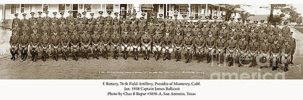 California Views Archives Mr Pat Hathaway Archives - E Battery 76th Field Artillery, Presidio of Monterey Jan. 1938