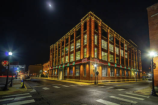 E. W. King Company Building at Christmas by Greg Booher