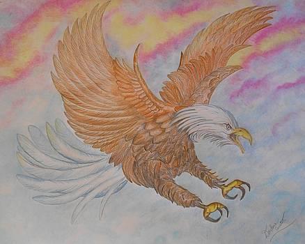 Eagle at Flight by Darlene Custer