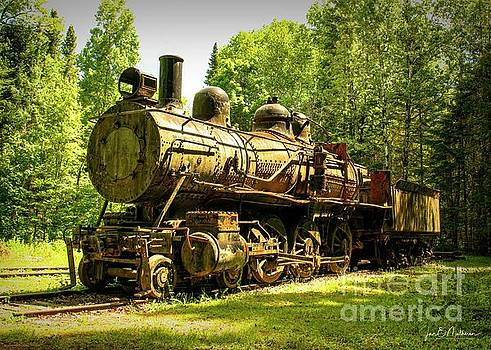 Eagle Lake and West Branch Railroad Locomotive - Allagash Maine by Jan Mulherin