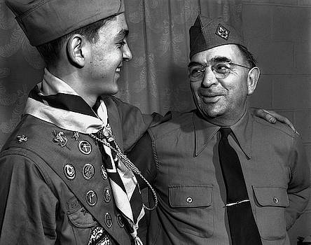 Eagle Scout And Leader - Oak Ridge, Tennessee 1947 by Ed Westcott
