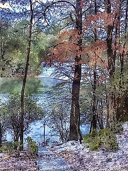 Early Winter at the Lake by Susan Leggett