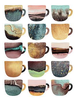 Earthy Coffee Cups by Elisabeth Fredriksson