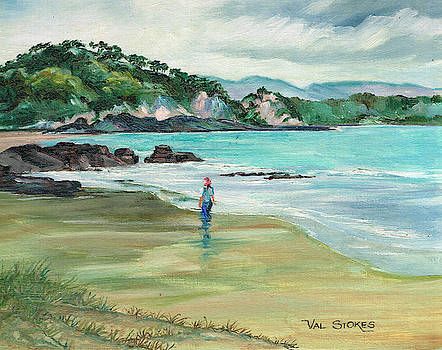 East Coast beach--Northland NZ by Val Stokes