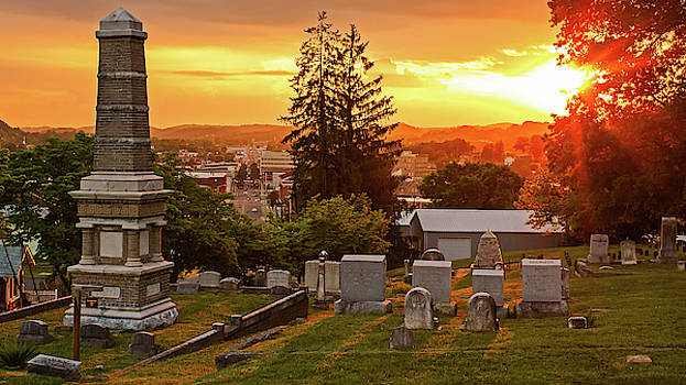 East Hill Cemetary at Sunset by Greg Booher
