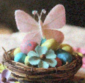 Cathy Lindsey - Easter Eggs And Butterfly In Nest 3