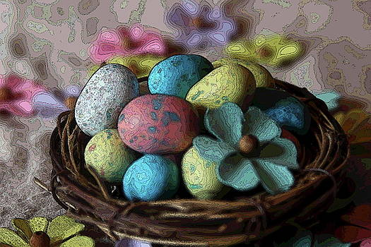 Cathy Lindsey - Easter Eggs And Flower In Nest 2
