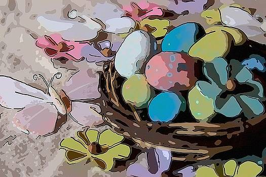Cathy Lindsey - Easter Eggs and Flower In Nest 3
