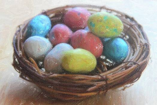 Cathy Lindsey - Easter Eggs In A Nest