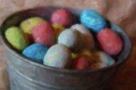 Cathy Lindsey - Easter Eggs In Metal Tub 10