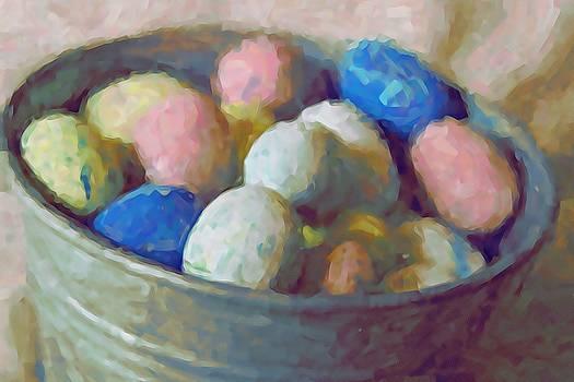 Cathy Lindsey - Easter Eggs In Metal Tub 11