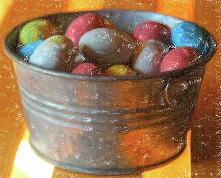 Cathy Lindsey - Easter Eggs In Metal Tub 3
