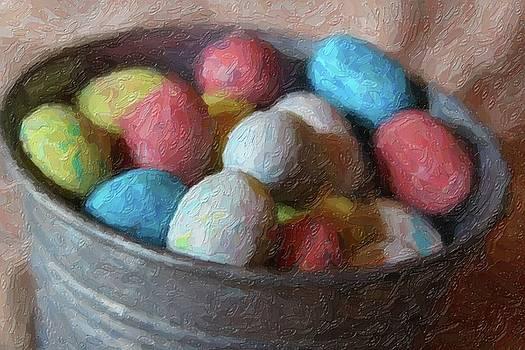 Cathy Lindsey - Easter Eggs In Metal Tub 9