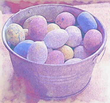 Cathy Lindsey - Easter Eggs In Metal Tub