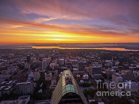 Eastside Sunrise from Seattle by Mike Reid