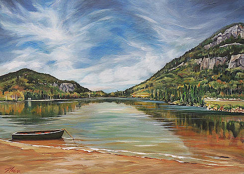 Echo Lake Franconia Notch In White Mountain Region by Nancy Griswold