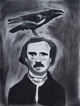 Edgar Allen Poe Drawing by Nadija Armusik