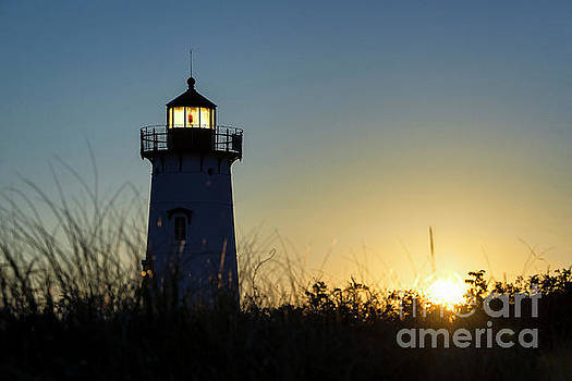 Edgartown Lighthouse Sunrise by John Greim