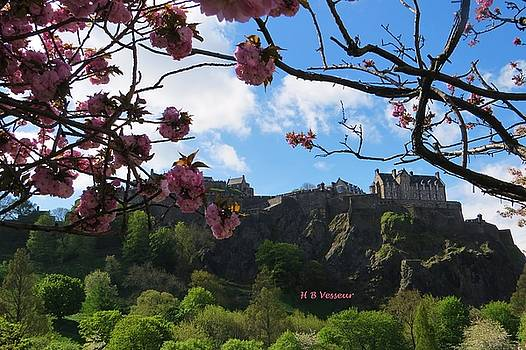 Edinburgh Castle In Spring by B Vesseur