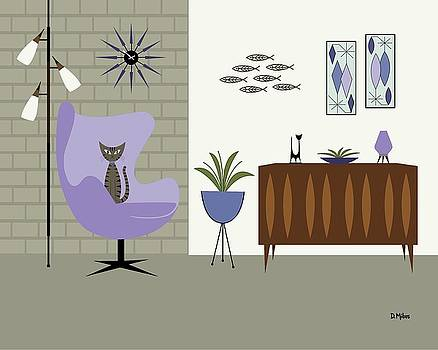 Egg Chair in Purple by Donna Mibus